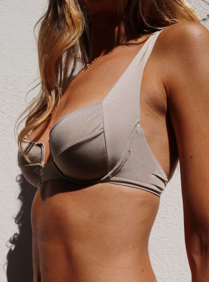 bloom bra  sand - underwired top - sustainable swimwear