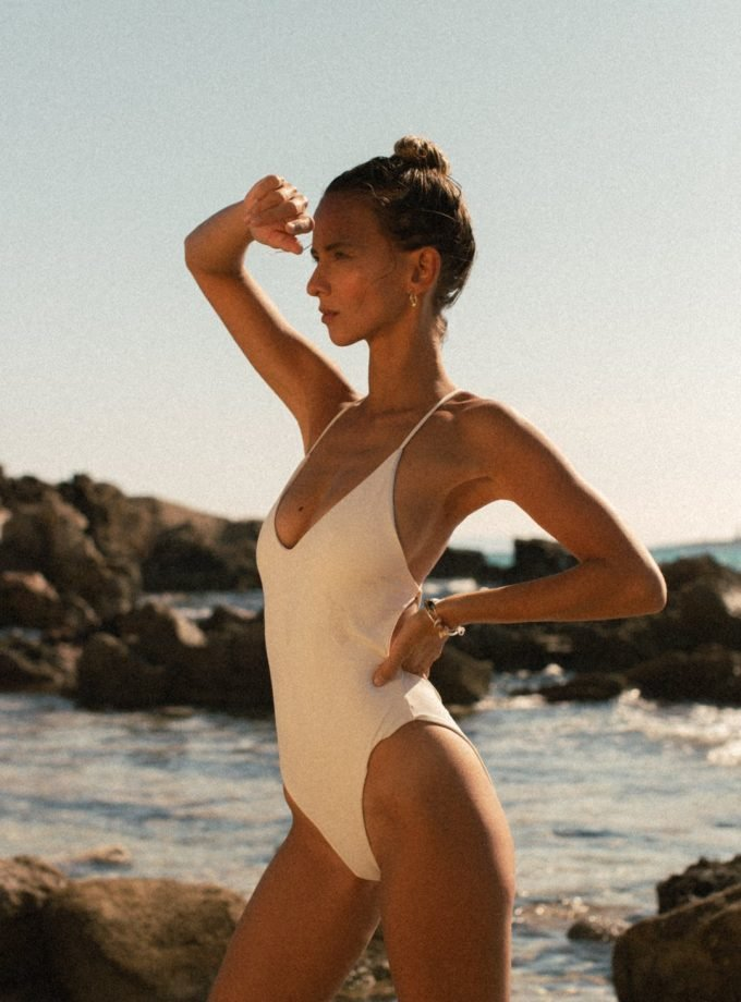 Elen one piece- off white - woman beach
